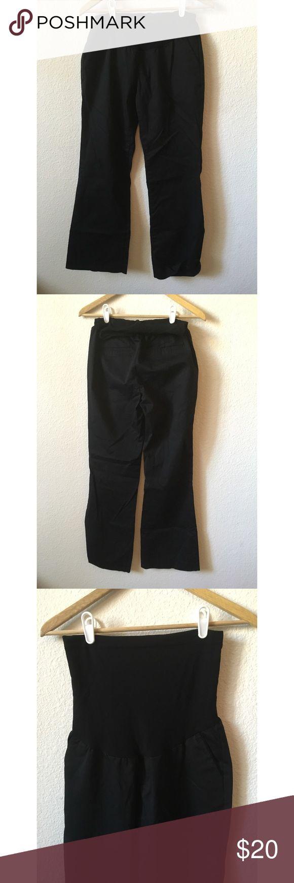 A Pea In The Pod Black Dress Pants A Pea In The Pod Black Dress Pants with stomach band. Size Medium. Body: 97% cotton, 3% spandex; stomach: 84% nylon, 16% spandex. :) Only the pants are for sale! A Pea in the Pod Pants