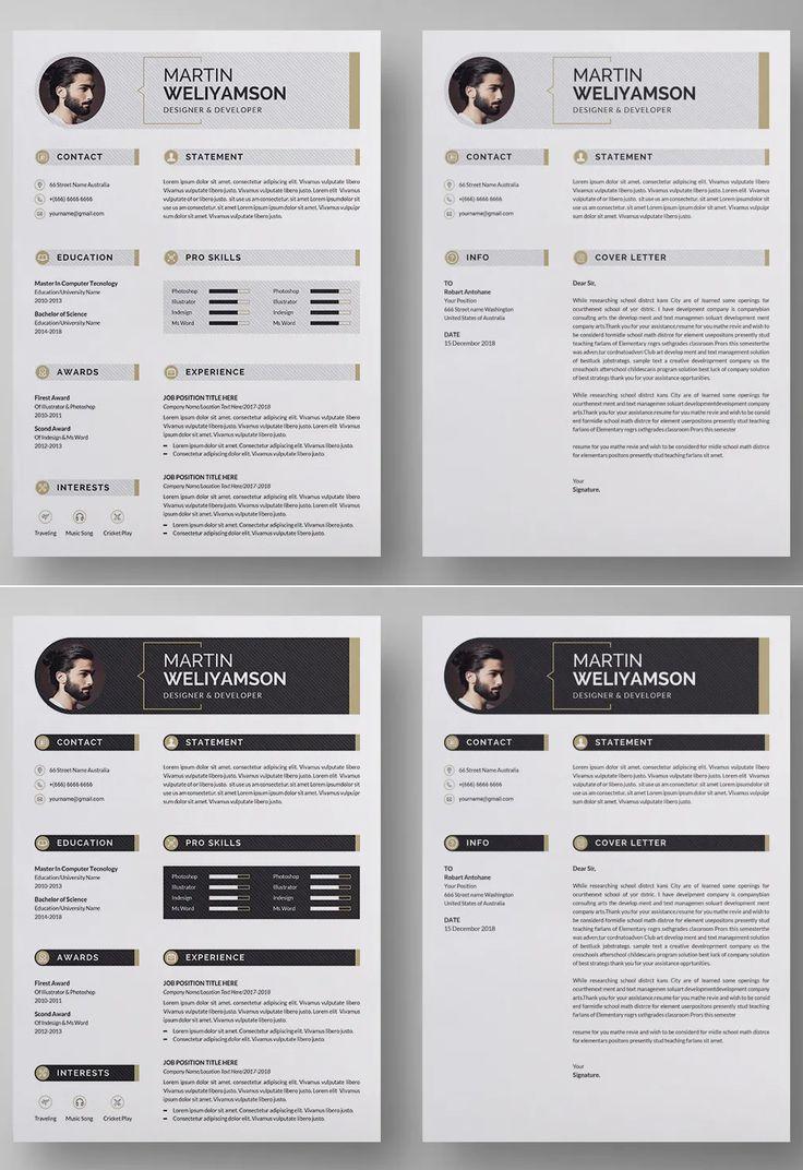 Clean resume cv template ms word cv template clean