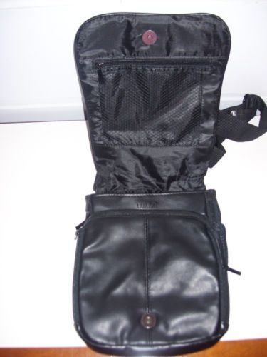 Buxton Genuine Leather Travel Over The Shoulder Purse Organizer Black New   eBay