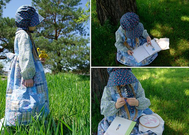 Wonderful Holly Hobbie costume, from a vintage pattern.  Guest post by Rachel (nest full of eggs) for Vintage May at Skirt As Top.  (Holly Hobbie by skirt_as_top, via Flickr)