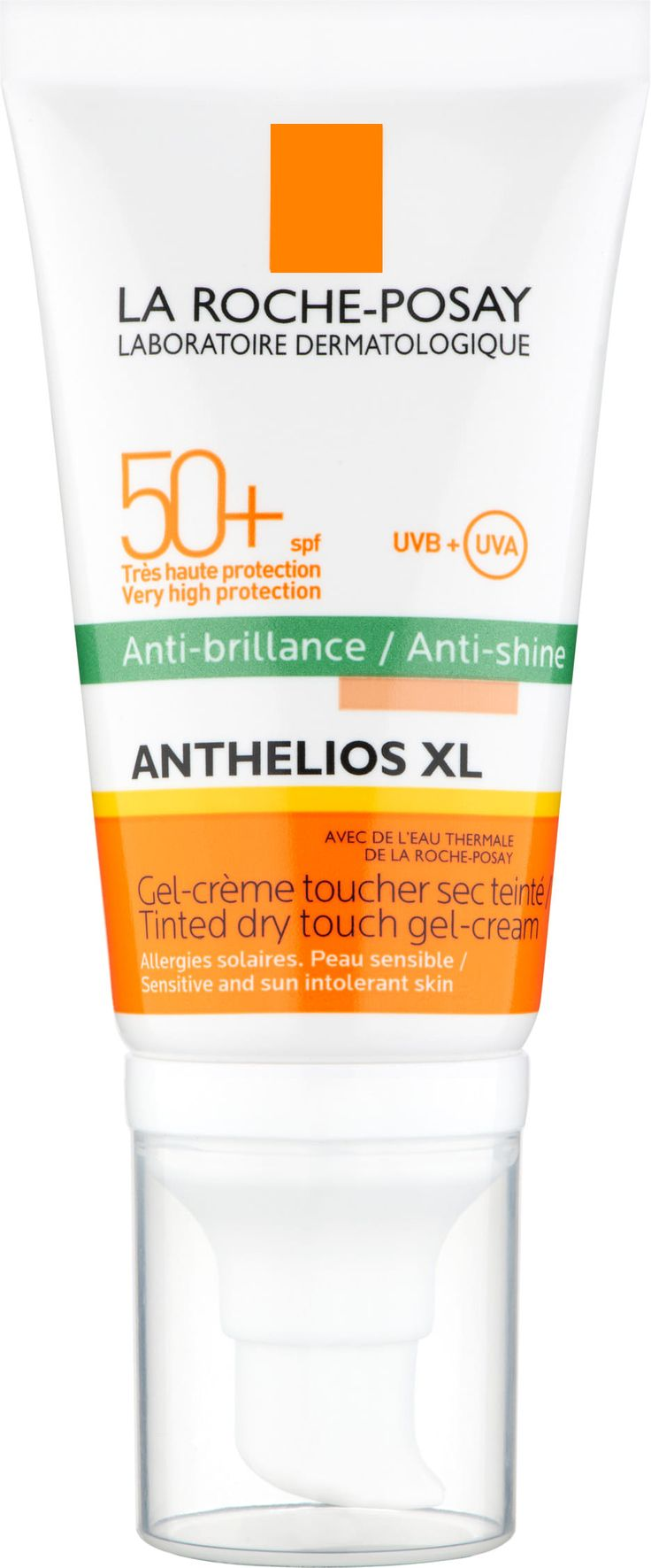 "contains silica which is ""desechant""  (dimethicone, cyclomethicone - potential comedogenics)  untinted ingredients: https://www.laroche-posay.co.uk/anthelios-anti-shine-spf50-50ml"