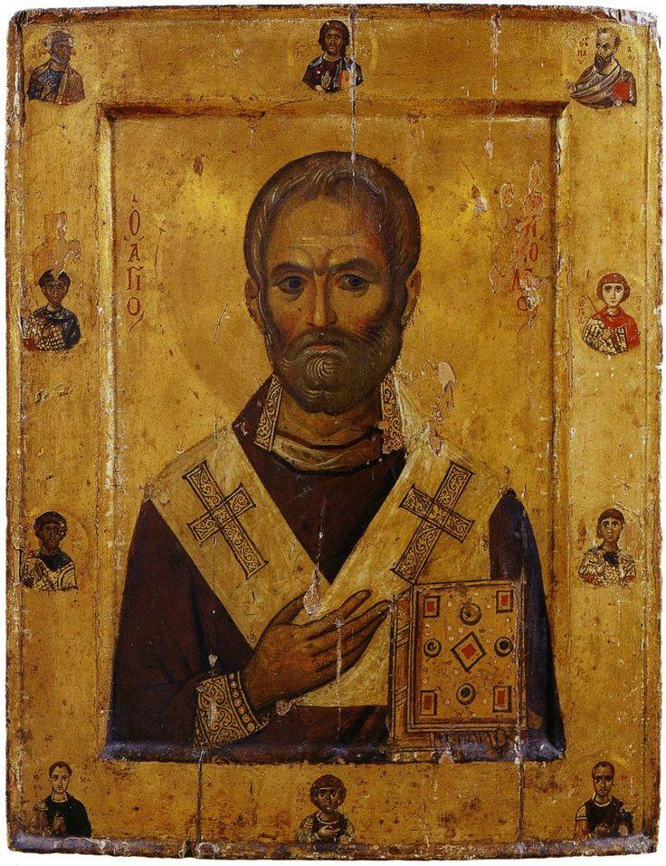 Святитель Николай Чудотворец, со святыми на полях Византия Конец X — начало XI…