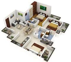 plano de departamentos de 60 metros cuadrados con 3 dormitorios - Buscar con Google