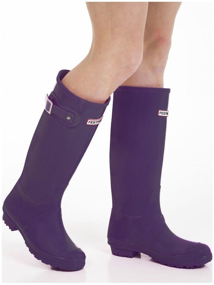 Women'S Wellies - Ladies Purple Wellington Boots - Size 4 Uk - Eu 37