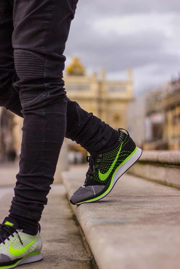 on sale e82a7 e7763 Nike Flyknit Racer Black White With Jeans ...