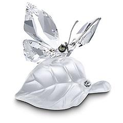 PrettySwarovski Figurines, Swarovski Butterflies, Beautiful Gift, Swarovski Crystals Figurines, Leaf Figurines, Crystals Butterflies, Crystals Clear, Collection, Leaves