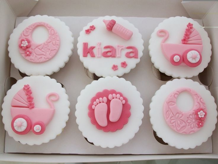 New baby girl cupcakes