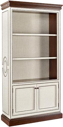 Marielle Upholstered Cabinet with Doors - #ThomasObrien - Hickory Chair