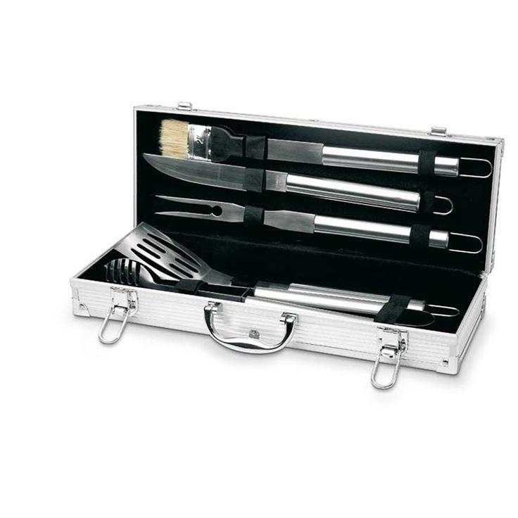 Barbecue set in aluminium box - 5 delig