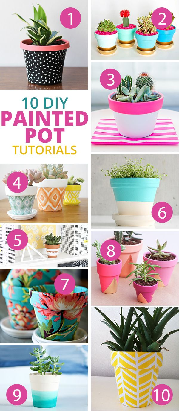 DIY Painted Pot Tutorials