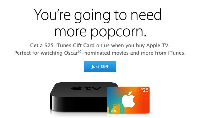 Apple empieza a incentivar la compra del Apple TV con tarjetas regalo de iTunes ¿Nuevo Apple TV a la vista?