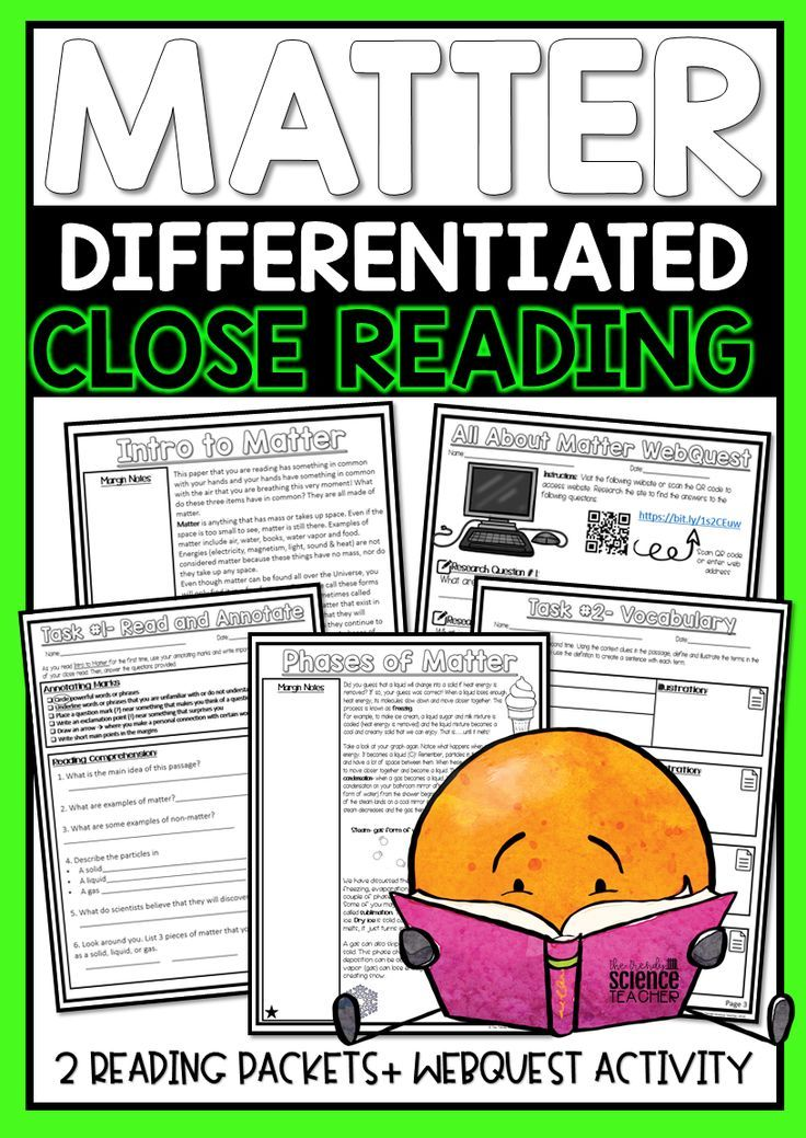 Matter States And Phase Changes Differentiated Close
