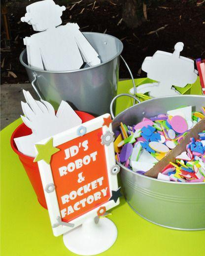 "Photo 1 of 66: Robots & Rockets / Birthday ""JD's 2nd Birthday"" | Catch My Party"