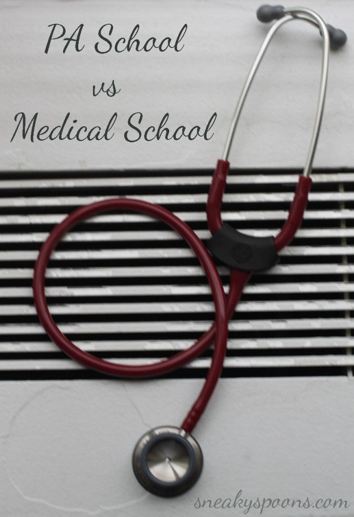 pa school vs medical school