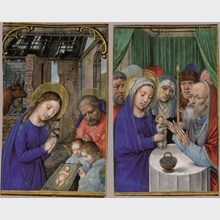Nativity and Presentation in the Temple, by Simon Bening, Bruges 1520- 30  Les Enluminures