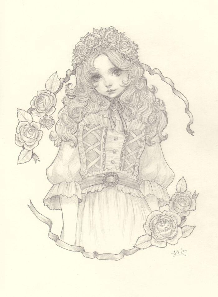 yasahime: drawings on storenvy