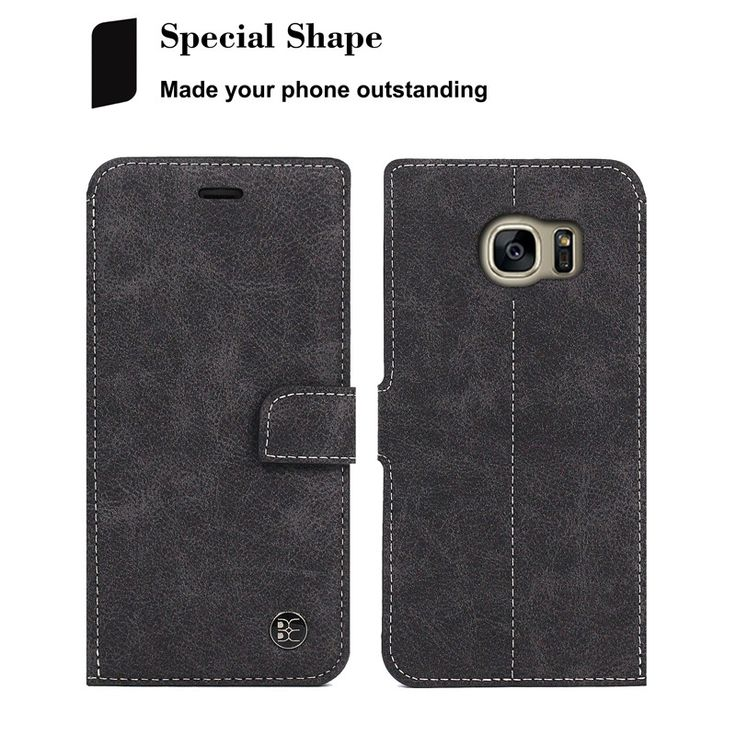 Beworlder For Samsung Galaxy S7 edge S7 Genuine Leather Case Wallet Card Slot Matte Feel Vintage. Click visit to buy #WalletCase #Case