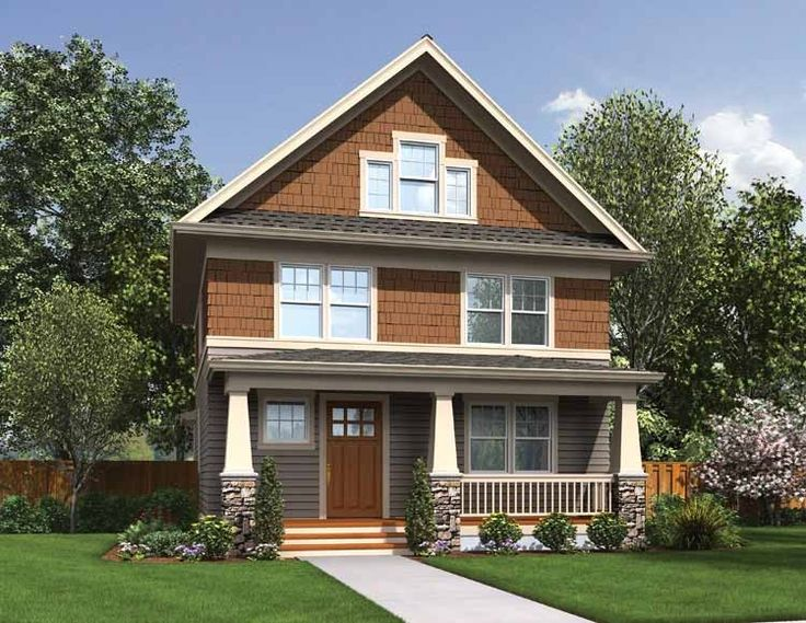 Best House Plans Images On Pinterest Solar House Passive - Craftsman style narrow house plans