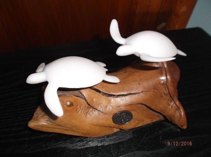 John Perry White Turtle Figurines