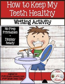 How to Keep My Teeth Healthy is a fun and engaging informative writing activity. The graphic organizers are scaffolded for all levels of writers, and the final draft templates are display-ready to show off the students' writing. It includes: 1 Brainstorm Graphic Organizer 5 Paragraph Graphic Organizers 1 Primary lined 2 pg template 1 Lined 2 pg template 1 Blank 2 pg template