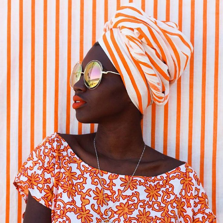 portrait | bold orange stripes pattern