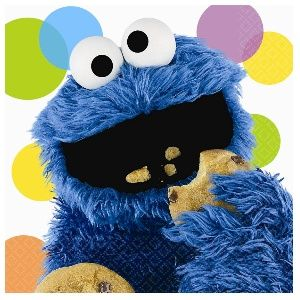 Sesame Street Party Cookie Monster Luncheon Napkins