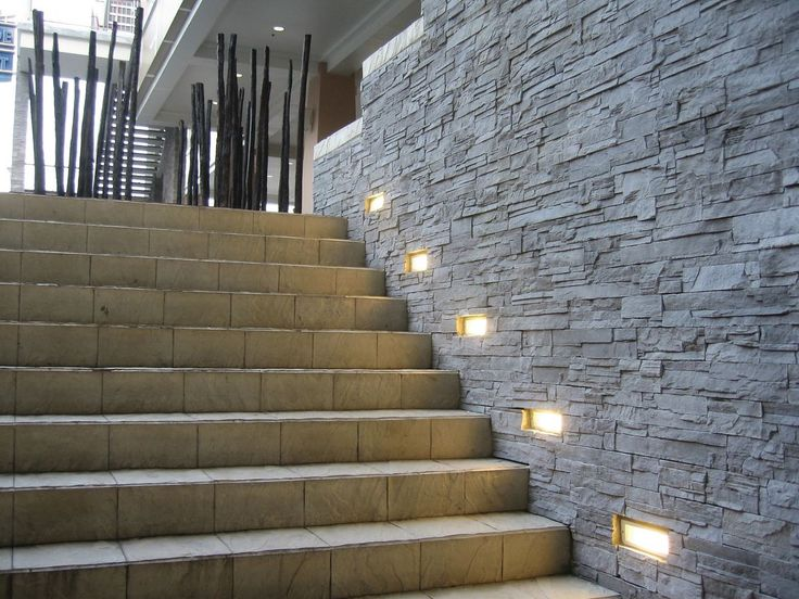 Recessed lighting for porch : Leds uses in architecture exterior wall light