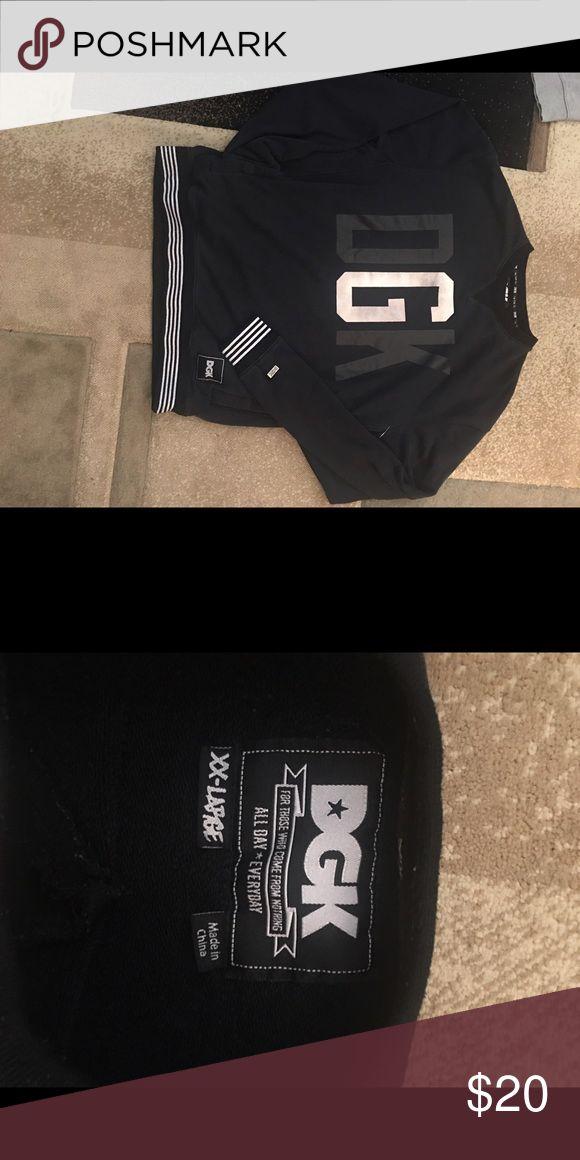 DGK Men's Pullover Sweatshirt Men's black and white sweatshirt by the brand DirtyGhettoKids. Size 2XL DGK Shirts Sweatshirts & Hoodies