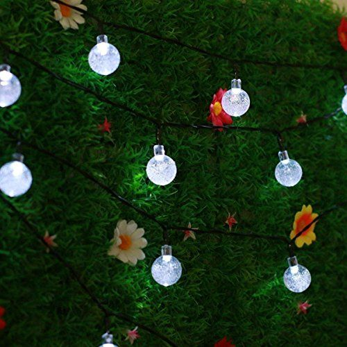 Striscia Luminosa LED Solare - Esky® SL50 Striscia Luminosa Alimentata da Energia Solare Lunga 6 metri con 30 Sfere LED Globulari di Cristallo, Striscia Luminosa Fiabesca per Giardino, Recinto, Sentiero, Paesaggio, Decorazione Festiva (Colore Bianco) E SKY http://www.amazon.it/dp/B00XJ5PTU4/ref=cm_sw_r_pi_dp_JnNKwb0KJ3K6E