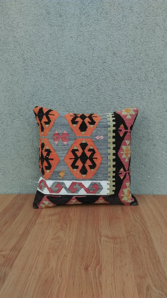Check out this item in my Etsy shop https://www.etsy.com/listing/239331790/old-kilim-pillow-cover-4040-cm