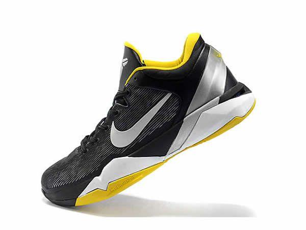 8a44df1b4f ... Baskets Nike Kobe 7 Supreme «Del Sol» Noir   Jaune Vente Privee Nike