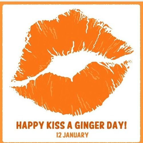 January 12 is International Kiss A Ginger Day