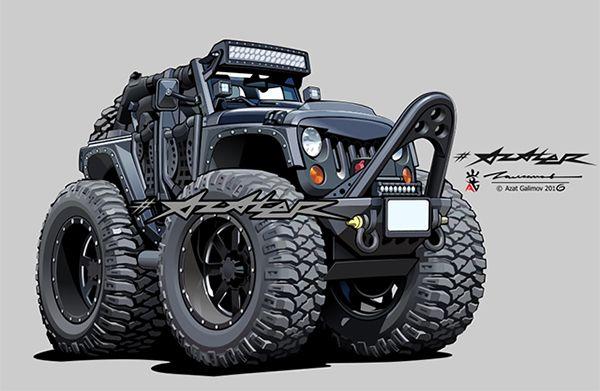 jeep wrangler. Artist - Azater