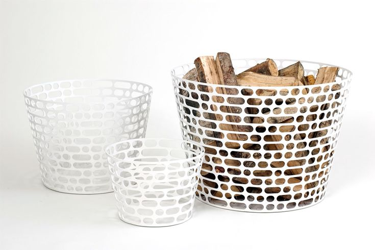 Code  Baskets in powder coated seel Produced by Asplund.