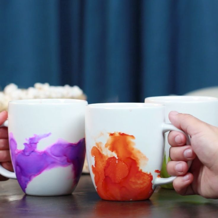 Easy Watercolor Mugs