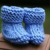 Baby Easy Booties knitting pattern - via @Craftsy