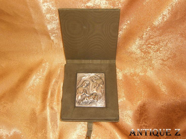 Silver sculpture plaquette, nativity scene, ESM-Italy, vintage by AntiqueBoutiqueZ on Etsy