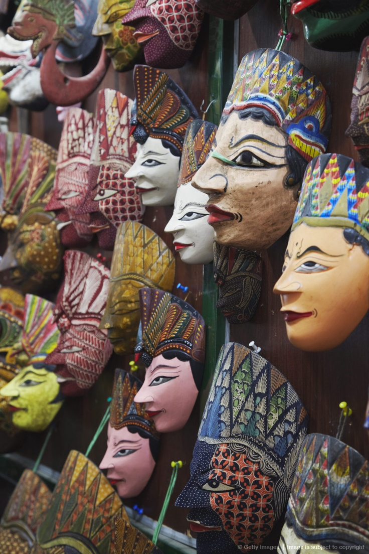 Image detail for -Indonesia, Java, Solo, Traditional masks at Pasar Triwindu flea market