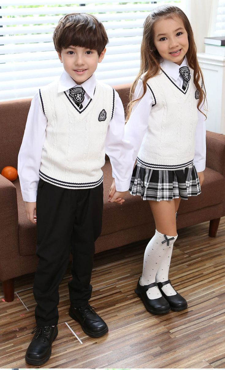 New School Uniform Boy Or Girl Contain Sweater Vest Long