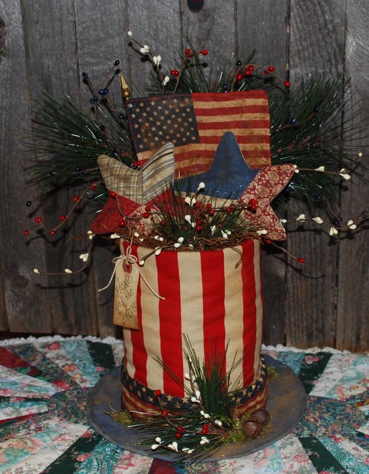 Uncle Sam Hat Table Topper Centerpiece by OldeAnniePrimitives