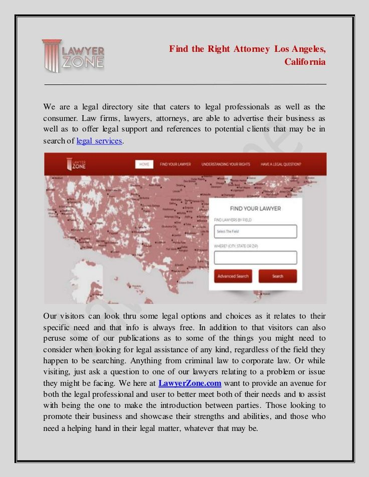 LawyerZone Find the Right Attorney Los Angeles