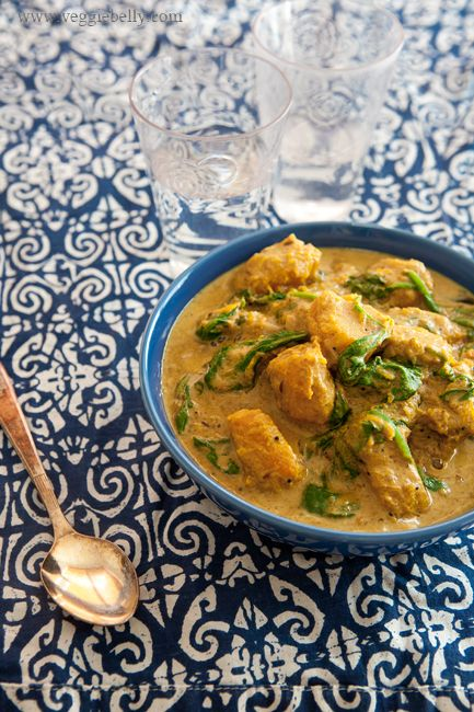 Pumpkin & Spinach Curry - made a few changes, but absolutely delicious.