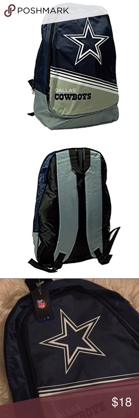 Dallas Cowboys backpack Official NFL merchandise full sized Cowboys back pack. NWT Accessories