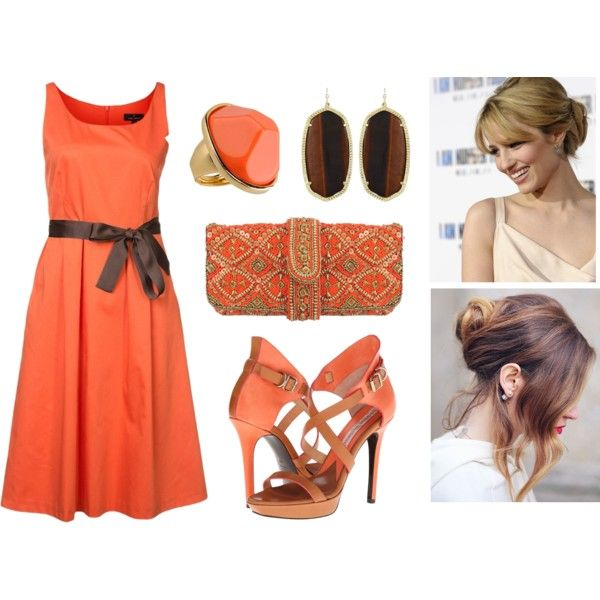 tangerines in hot chocolate  by Czumaczech on Polyvore featuring polyvore fashion style Daniel Hechter Vivienne Westwood ASPIGA Kenneth Jay Lane Kendra Scott