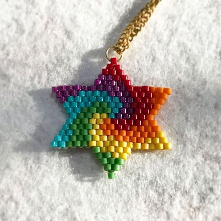 Brick stitch star