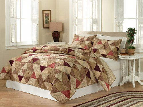 Butler Full / Queen Quilt by Pem America. Save 25 Off!. $89.99. Filled with 100% Natural Cotton. Full / Queen Quilt measures 88 inches by 90 inches.. Machine Wash cold/gentle, no bleach, tumble dry.. Pattern and size may vary due to hand crafting.. Pre-washing provides a natural worn look.. Classic triangle patchwork quilt in natural colors and prints.