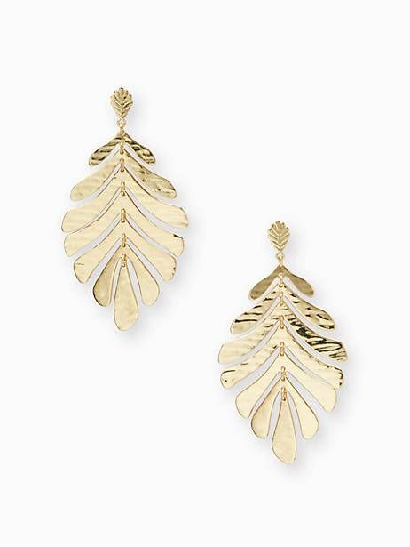467b1189d831f Kate Spade A New Leaf Statement Earrings, Gold | Products ...