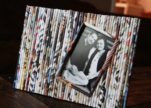 Best 20 newspaper frame ideas on pinterest scrabble for Picture frame crafts for adults