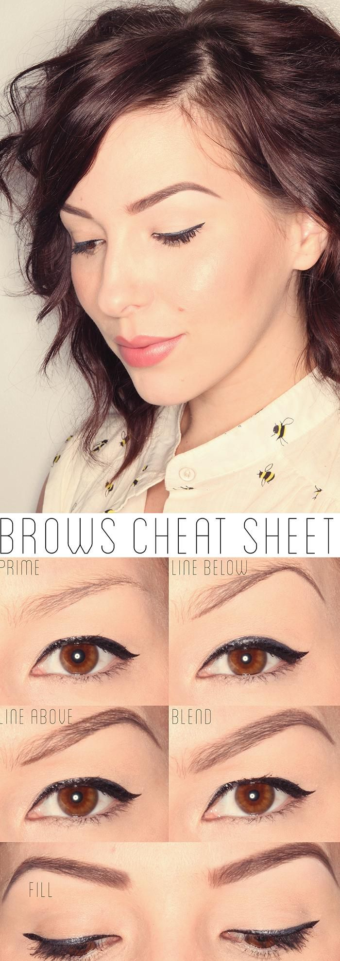 Perfect brows are a #cinch with this cheat sheet!