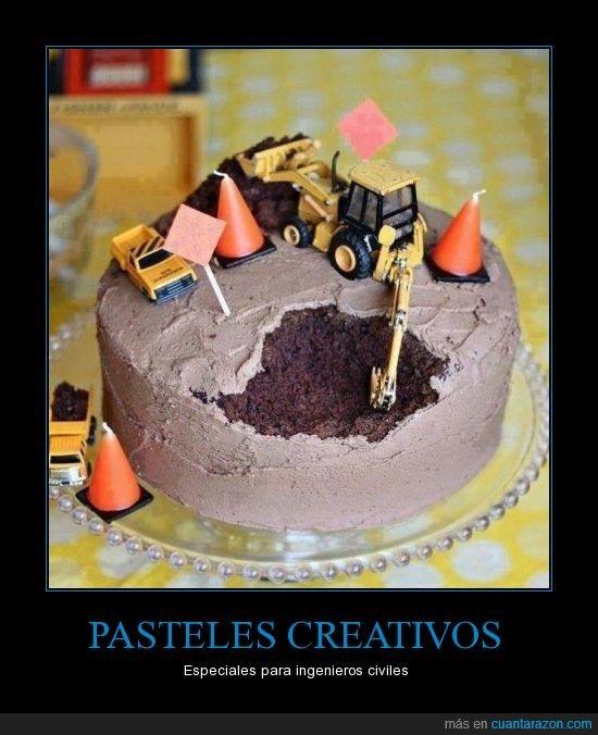 PASTELES CREATIVOS - Especiales para ingenieros civiles